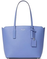 Kate Spade Medium Margaux Leather Tote - Blue