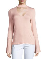 Project Social T - Solid Choker Pullover - Lyst