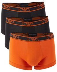 Emporio Armani 3-pack Logo Boxer Briefs - Orange