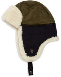 UGG Shearling & Textile Mixed Media Trapper Hat - Multicolour