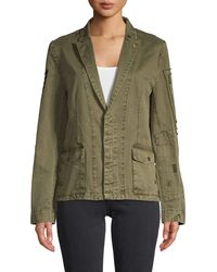 Zadig & Voltaire Embellished Cotton Jacket - Green