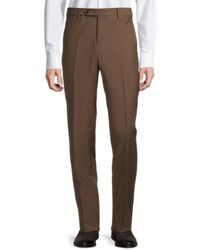 Zanella - Men's Devon Wool Pants - Medium Brown - Size 36 - Lyst