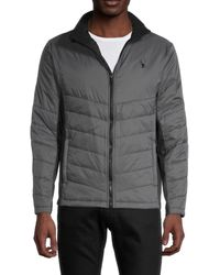Spyder Full-zip Quilted Jacket - Gray