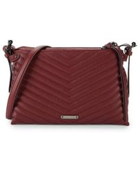 Rebecca Minkoff - Women's Edie Quilted Leather Crossbody Bag - Cherry Wood - Lyst