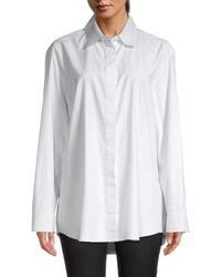 The Row Women's Big Sisea Check Shirt - Dark Grey - Size L