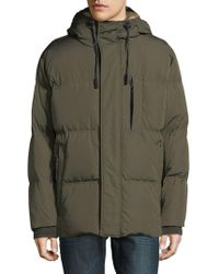 Andrew Marc - Ascent Hooded Faux Fur Parka - Lyst