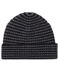 Saks Fifth Avenue - Two-tone Knit Beanie - Lyst