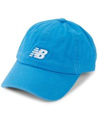 New Balance Men's Logo Cotton Baseball Cap - Blue