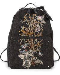 Valentino - Tree Of Life Printed Backpack - Lyst