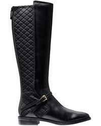Cole Haan - Knee High Round Toe Boots - Lyst
