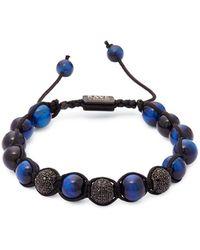 Perepaix - Choyserea Lapis Lazuli And Crystal Bracelet - Lyst