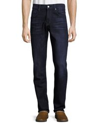 7 For All Mankind Men's Standard Straight-fit Jeans - Blue - Size 30