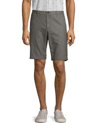 Ben Sherman Flat-front Canvas Shorts - Grey