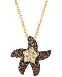 Le Vian 14k Honey Goldtm, Vanilla And Chocolate Diamonds® Starfish Pendant Necklace - Multicolour