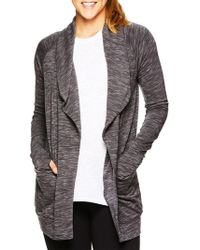 Gaiam Piper Marled Open Front Cardigan - Gray