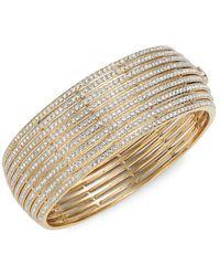 Adriana Orsini Women's Goldtone & Crystal Bangle Bracelet - Metallic