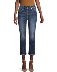 Miss Me Mid-rise Curvy Cropped Jeans - Blue