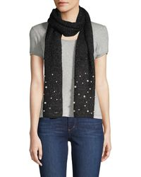 Karl Lagerfeld Multicolored Faux Pearl-embellished Scarf - Multicolour