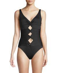 Carmen Marc Valvo - One-piece Front Cut-out Swimsuit - Lyst
