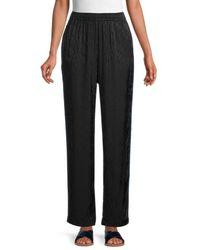 Maje Women's Paloma Tonal-print Trousers - Black - Size 2 (m)