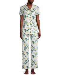 Cosabella Women's 2-piece Botanical-print Pyjama Set - Blooming - Size L - Multicolour