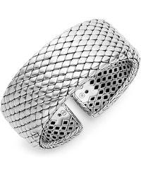 John Hardy - Sterling Silver Cuff Bracelet - Lyst