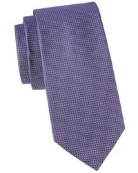 BOSS by HUGO BOSS Geometric-print Silk Tie - Pink