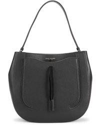 Marc Jacobs Women's Maverick Leather Hobo Bag - Marshmallow - Black