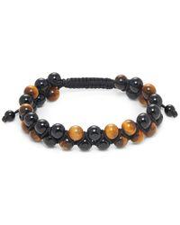 Effy Men's Tiger's Eye & Onyx Beaded Bracelet - Multicolor