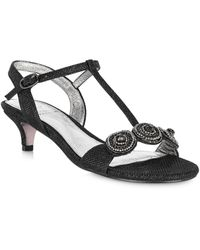 Adrianna Papell Tanner Embellished Heeled Sandals - Black