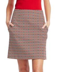 Akris Punto Women's Houndstooth A-line Skirt - Size 12 - Multicolour