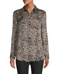 Equipment Reese Leopard-print Shirt - Black