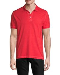 Zadig & Voltaire Men's Distressed Cotton Polo - Red - Size M