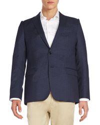 Armani - Checked Wool Jacket - Lyst