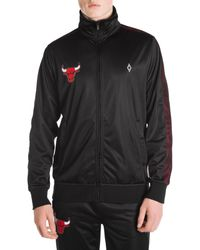 Marcelo Burlon Chicago Bulls Logo Tracksuit Jacket - Black