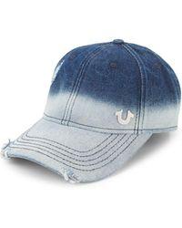True Religion - Bleached Denim Baseball Cap - Lyst