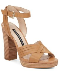 French Connection - Gilda Leather Sandals - Lyst