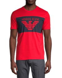 Armani Jeans Logo Graphic T-shirt - Red