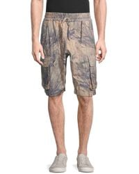 Yeezy Men's Printed Cargo Shorts - Beige Multi - Size S - Natural