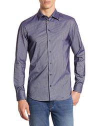 Armani - Striped Casual Button-down Shirt - Lyst