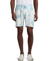Trunks Surf & Swim Men's Tie-dye Terry Shorts - Cloud Blue - Size S