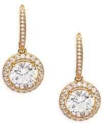 Adriana Orsini Goldplated Sterling Silver & Crystal Drop Earrings - Metallic