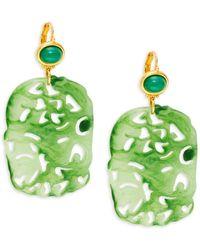 Kenneth Jay Lane Women's Goldplated Drop Earrings - Green