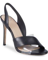 Pour La Victoire - Elly Leather & Pvc Slingback Sandals - Lyst
