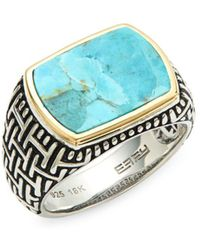 Effy - Sterling Silver Turquoise Cocktail Ring - Lyst