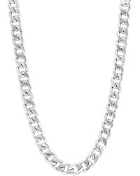Effy Sterling Silver Flat Curb Chain Necklace - Metallic