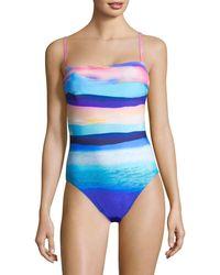 X By Gottex Seascape One-piece Tank Swimsuit - Blue