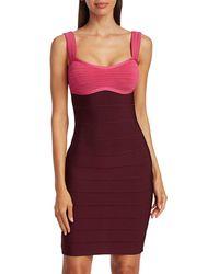 Hervé Léger Sporty Bra Top Bandage Dress - Red