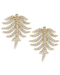 Adriana Orsini - Barbara Pavé Crystal Button Earrings - Lyst