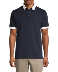 French Connection Men's Short-sleeve Cotton Polo - Marine - Size S - Blue
